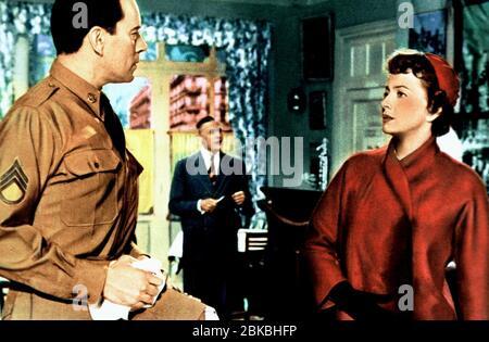 JOHN FORSYTHE, OLIVIA DE HAVILLAND, THE AMBASSADOR'S DAUGHTER, 1956 - Stock Photo