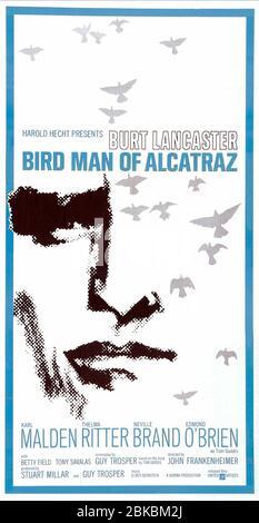 FILM POSTER, THE BIRDMAN OF ALCATRAZ, 1962 - Stock Photo