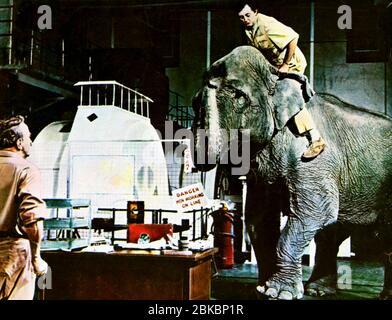 ROBERT MITCHUM, ELEPHANT, MISTER MOSES, 1965
