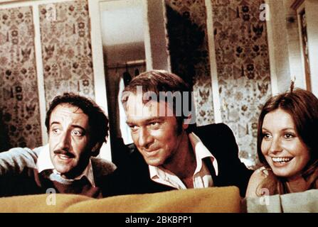 PETER SELLERS, CHRISTOPHER PLUMMER, CATHERINE SCHELL, THE RETURN OF THE PINK PANTHER, 1975 - Stock Photo