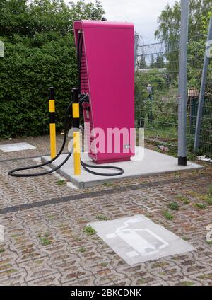 Public High Power Charger of Deutsche Telekom - Stock Photo