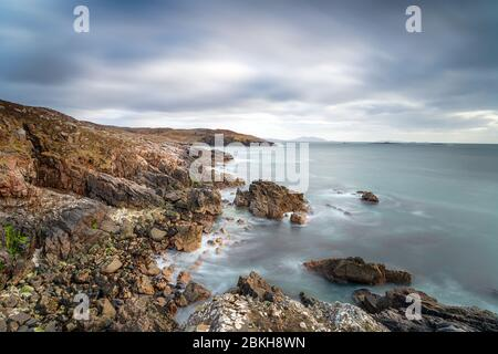 The wild and rugged coastline at Hushinish on the Isle of Harris in the Outer Hebrides of Scotland