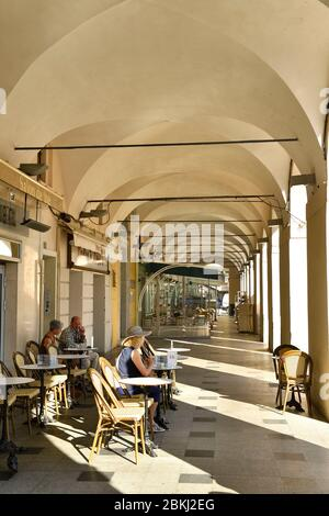 France, Alpes Maritimes, Nice, old town, Place Garibaldi - Stock Photo