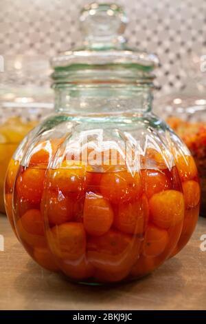 Mandarin candied with sugar