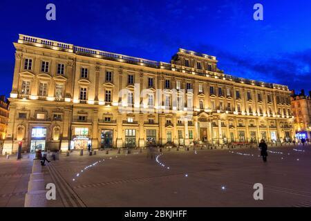 France, Rhone, Lyon, 1st arrondissement, Place des Terreaux, Museum of Fine Arts (17th century) classified Historic Monument - Stock Photo