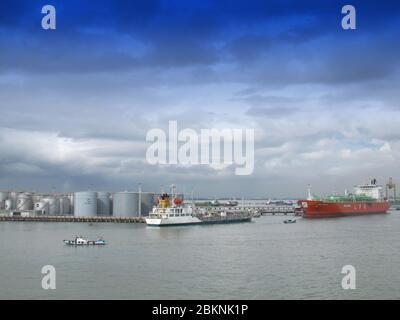 SURABAYA - INDONESIA, 24th APRIL 2013 ; LPG terminal at Tanjung Perak Port