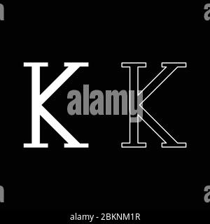 Kappa greek symbol capital letter uppercase font icon outline set white color vector illustration flat style simple image - Stock Photo