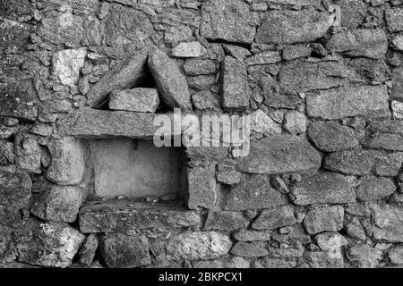 Niche in an old wall in Almeida.