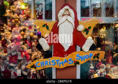 Christmas shop sign in Reykjavik, Iceland.