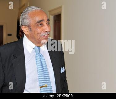 Washington, United States Of America. 01st Dec, 2010. United States Representative Charlie Rangel (Democrat of New York) arrives at his Capitol Hill office on Wednesday, December 1, 2010.Credit: Ron Sachs/CNP (RESTRICTION: NO New York or New Jersey Newspapers or newspapers within a 75 mile radius of New York City) | usage worldwide Credit: dpa/Alamy Live News - Stock Photo