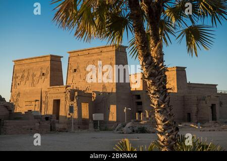 Egypt, Upper Egypt, Nile valley, Aswan, Agilkia island, the Philae temple listed as World Heritage by UNESCO, the Isis temple