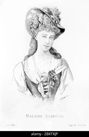 Hélène Standish (1847-1933) D. - Stock Photo