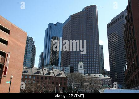 Im Zentrum von Boston in den USA