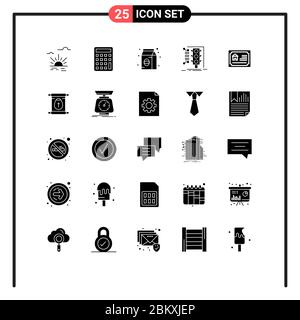 Stock Vector Icon Pack of 25 Line Signs and Symbols for home, traffic, coffee, smart, management Editable Vector Design Elements - Stock Photo