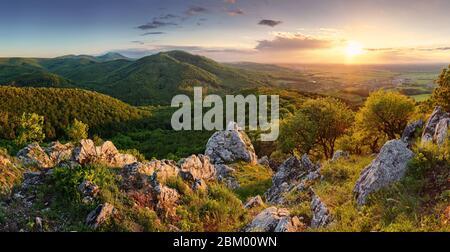 peak in sunset - Slovakia mountain - Stock Photo