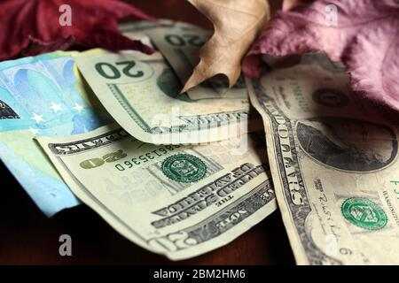 Money - post-Covid-19 financial recession times - Stock Photo