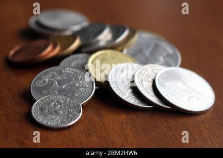 Money - after Covid-19 will the world face a general economic recession? - Stock Photo