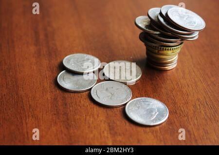 Money - after Covid-19 the imbalance will be general and the global recession is inevitable. - Stock Photo