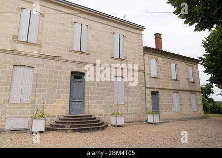 Medocan Style old house winery street view typical in Medoc region France