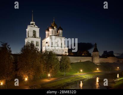 Trinity cathedral at Krom (Kremlin) in Pskov. Russia