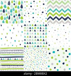 Hand Drawn Geometric Patterns Abstract Digital Papers Abstract Backgrounds Stock Vector Image Art Alamy
