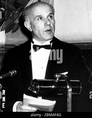 Juan Rof Carballo (1905 - 1994) , Médico y ensayista español.  Real Academia Nacional de Medicina. Toma de Posesión 04/03/1969. - Stock Photo