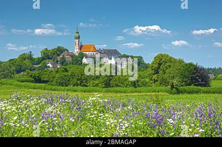 Andechs Abbey, Germany, Bavaria, Andechs - Stock Photo
