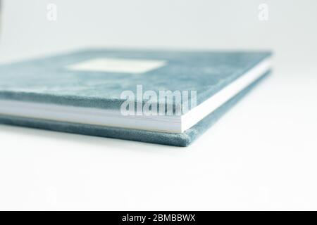 photo book wedding day in velor cover - Stock Photo