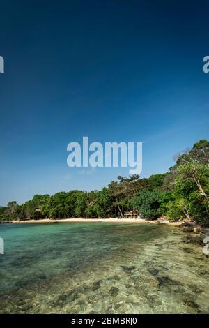 Treehouse Bay in Koh Ta Kiev paradise island near sihanoukville cambodia - Stock Photo