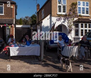 VE Day street party - Stock Photo