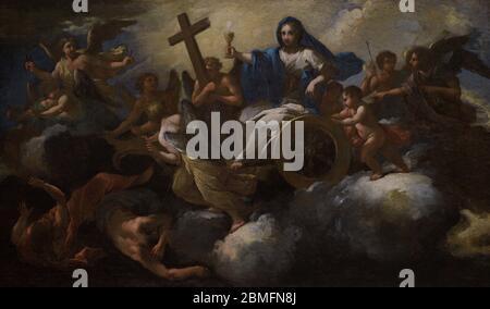 Giovanni Odazzi (1663-1731). Italian painter. Allegory of Faith or Triumph of Faith. National Museum of Fine Arts. Valletta. Malta. - Stock Photo
