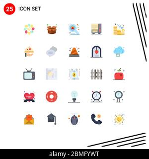 Stock Vector Icon Pack of 25 Line Signs and Symbols for loss, analytics, property, drawer, interior Editable Vector Design Elements - Stock Photo