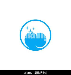 Dental care graphic logo template, circle design concept, isolated on white background. - Stock Photo