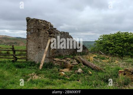 Ruined building in Belthorn - Stock Photo