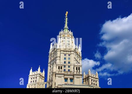 Kotelnicheskaya Embankment Building is one of seven Stalinist skyscrapers in Moscow, Russia