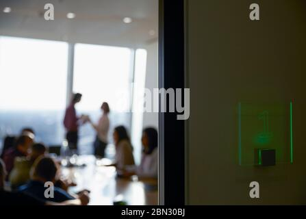 Business people in conference room meeting - Stock Photo