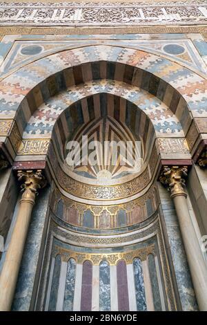 main mihrab, qibla iwan, Sultan Hasan complex, Cairo, Egypt
