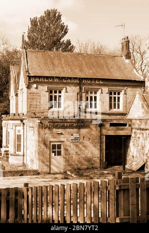 The former Harrogate Arms public house and Harlow Carr Hotel,Crag Lane,Harrogate,North Yorkshire,England. - Stock Photo