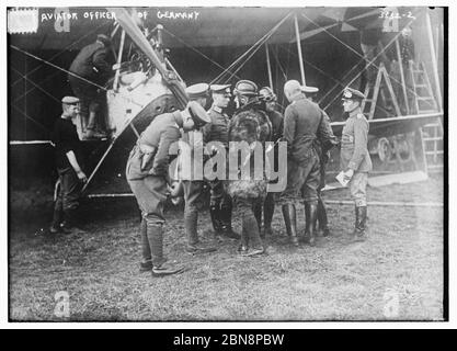 Aviator officer of Germany  (LOC) by The Library of Congress - Stock Photo