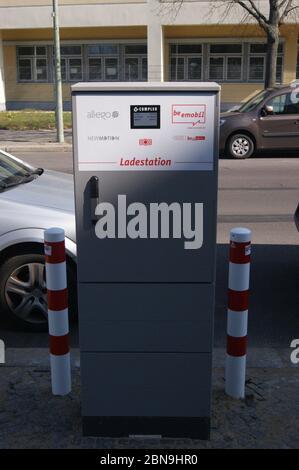 Eine allego-Ladestaion in Berlin-Spandau. - Stock Photo