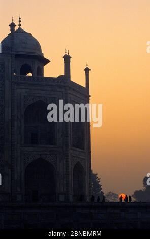 Taj Mahal mausoleum.Agra. Uttar Pradesh.India. - Stock Photo