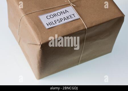 Corona Hilfspaket - Stock Photo