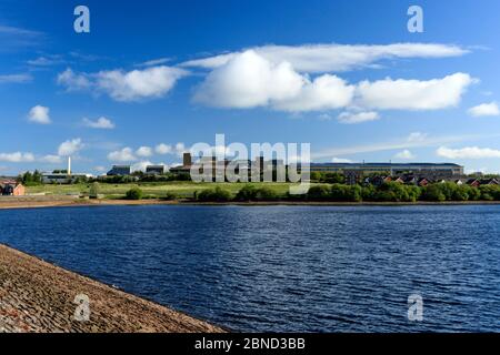 Fishmoor reservoir - Stock Photo