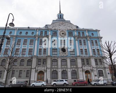 SAINT-PETERSBURG RUSSIA MAY 05, 2019: The building of the Nakhimov naval school in Saint Petersburg. - Stock Photo