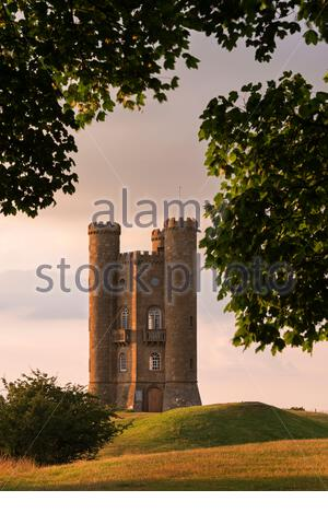Broadway Tower, one of the Cotswolds most recognisable buildings designed by James Wyatt in 1794, Worcestershire, England, UK. July 2014. - Stock Photo