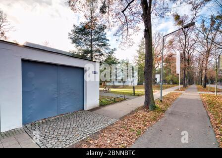 Masters' Houses, Ebertallee, Bauhaus, Dessau-Roßlau, Saxony-Anhalt, Germany, architecture, house view, - Stock Photo
