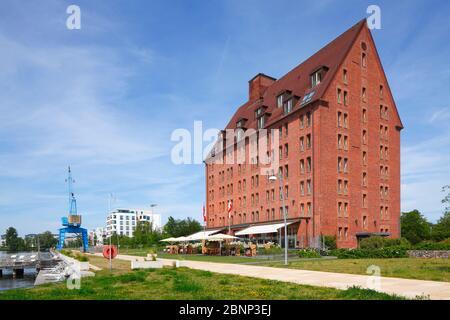 Hotel Speicher am Ziegelsee, Schwerin, Mecklenburg-West Pomerania, Germany, Europe - Stock Photo