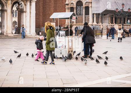 Photo service, St. Mark's Square, Venice, historic center, island, Veneto, Italy, northern Italy, Europe - Stock Photo
