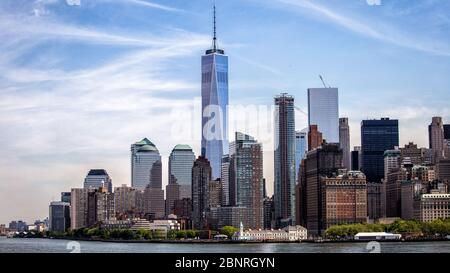 America, United States, New York City, Skyline, One World Trade Center Stock Photo