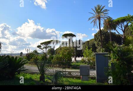 Balconata del Pincio in Villa Borghese in the city of Rome, Italy - Stock Photo